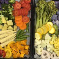 カラフルな蒸し野菜